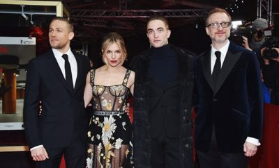 BERLIN, GERMANY - FEBRUARY 14:  Actors Charlie Hunnam wearing Prada, Sienna Miller wearing Dior, Robert Pattinson and Director James Gray attend the 'The Lost City of Z' premiere during the 67th Berlinale International Film Festival Berlin at Zoo Palast on February 14, 2017 in Berlin, Germany.  (Photo by Pascal Le Segretain/Getty Images)